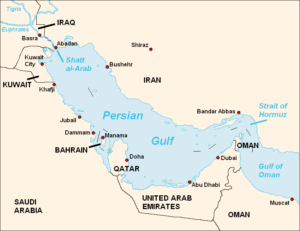 Map - Persian Gulf and surrounding countries