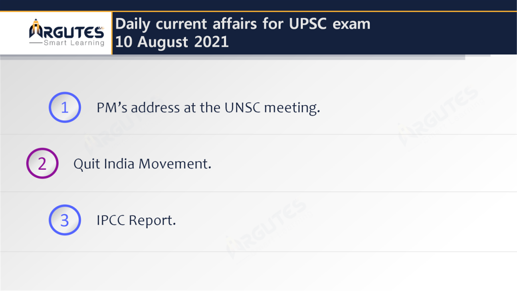 Daily Current Affairs for UPSC Civil Services Exam – 10 August 2021